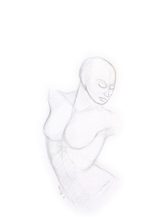 "Sly | © 2012 Keelan Rosa | Pencil, 8.4""x11"" 