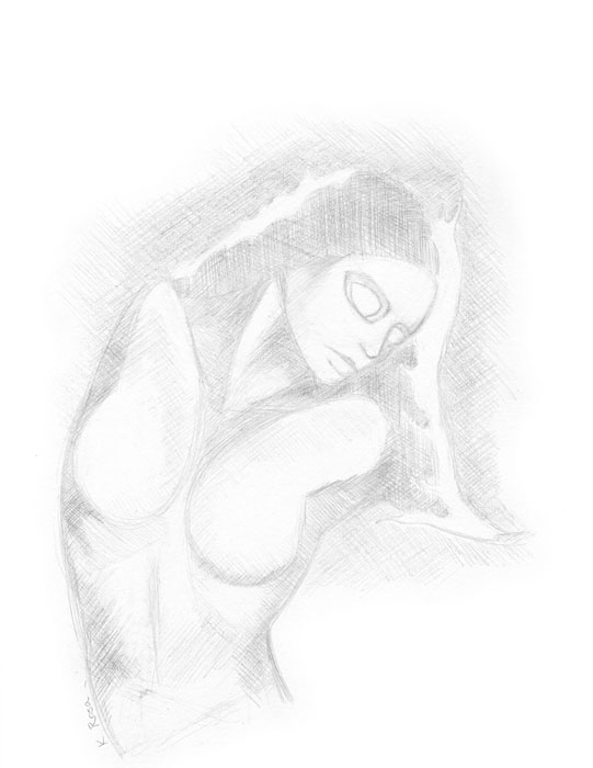 "Smoulder | © 2012 Keelan Rosa | Pencil, 8.4""x11"" 