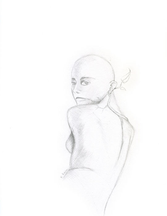 "Vine | © 2012 Keelan Rosa | Pencil, 8.4""x11"" 