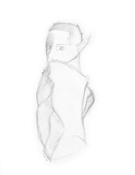 "Wolf | © 2012 Keelan Rosa | Pencil, 8.4""x11"" | $15"
