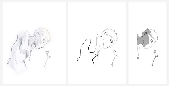 Мира и Цветок   © 2012 Keelan Rosa   Pencil + Digital