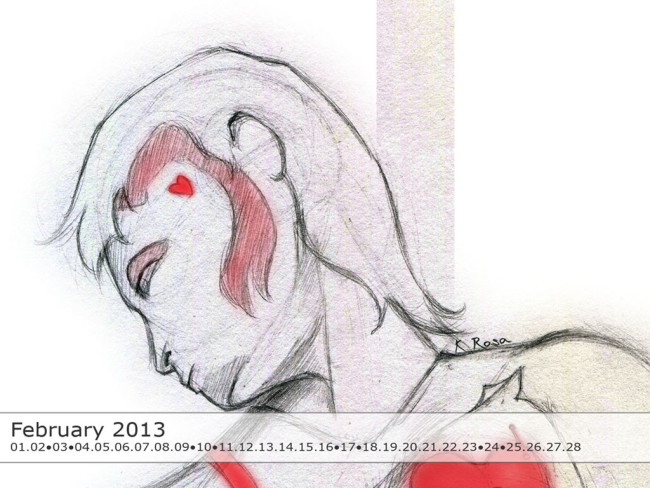February 2013 Calendar Wallpaper