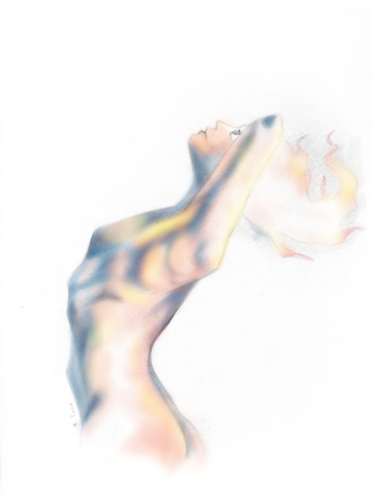 Burn | © 2012 Keelan Rosa | Pencil + Photoshop