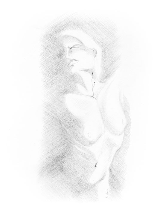 "Emergence | © 2012 Keelan Rosa | Pencil, 9""x12"" 