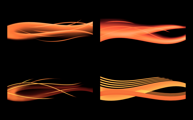 Abstract Flame - Orange Set