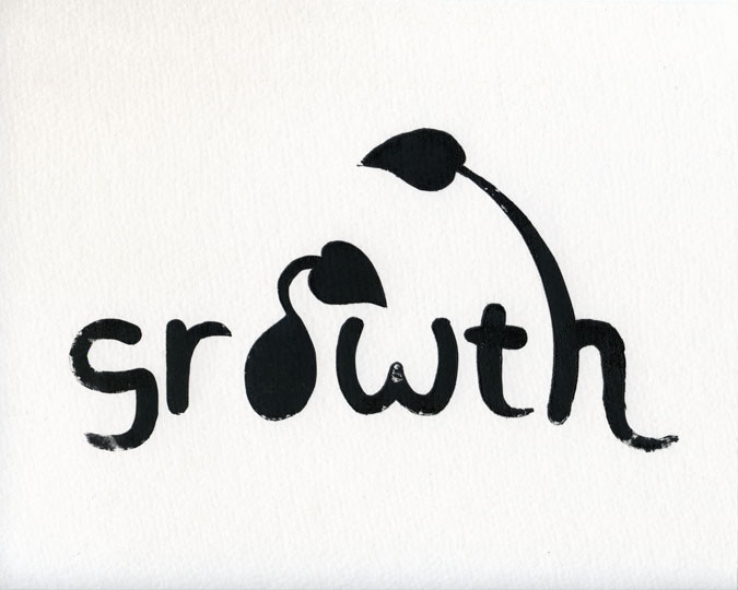 "Growth | © 2013 Keelan Rosa | Screenprint, 8""x10"" 