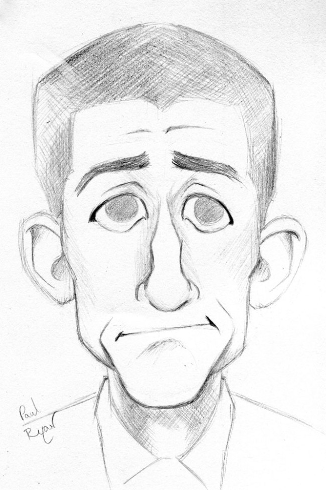 Caricature: Paul Ryan